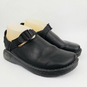 Chaco Pedshed Black Leather Slip On Comfort 8.5